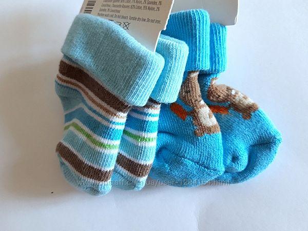 Носочки новонародженому Gymboree 0-3міс. /Носочки новорожденному махровые