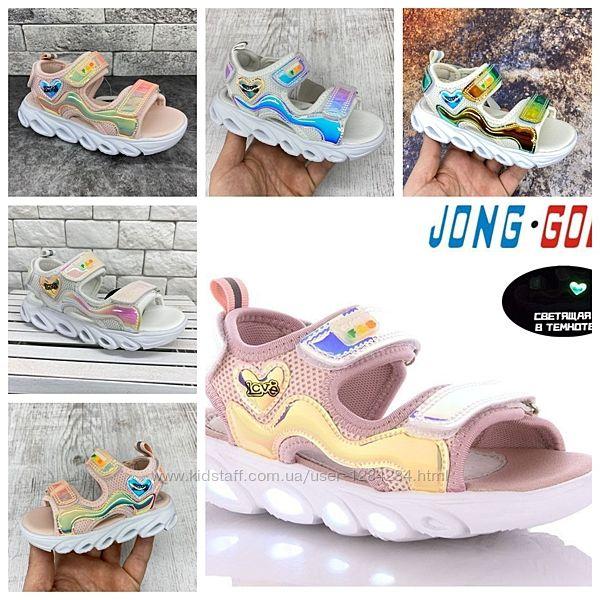 Светящиеся босоножки, сандалии 20089 Jong Golf размеры 27- 32 супер новинка