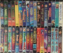Детские видеокассеты одним лотом, 34 штуки