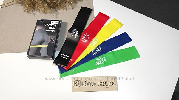 Резинки для фитнеса комплект Fitness Loop Bands набор из 5 штук с чехлом