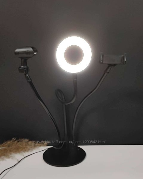 Набор блогера 3 в 1 держатель для телефона с подсветкой Led