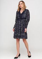 Новое шикарное шифоновое платье миди