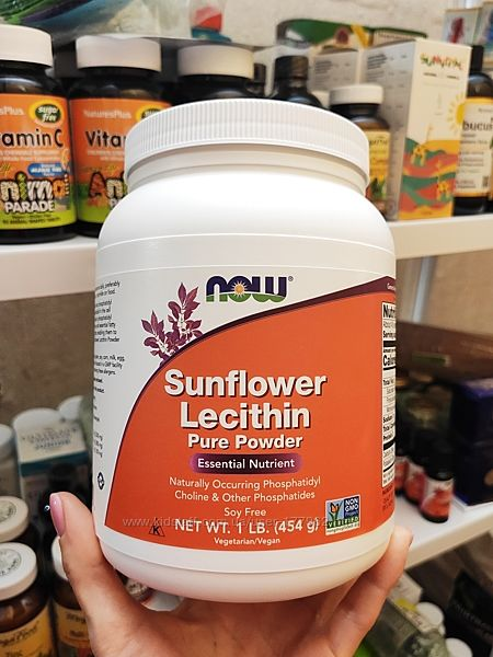 Now Foods, Подсолнечный лецитин, чистый порошок, 454 г