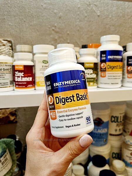 Enzymedica, Digest Basic, состав с основными ферментами, 90 капсул