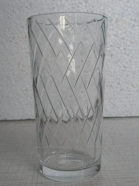 Стакан стеклянный 200 мл с узором внутри