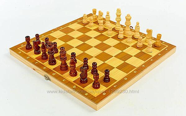 Шахматы, нарды, шашки с деревянной доской 34 см х 34 см