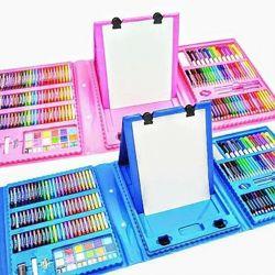 Набор для рисования чемодан 208 предметов Цвет розовый, Синий
