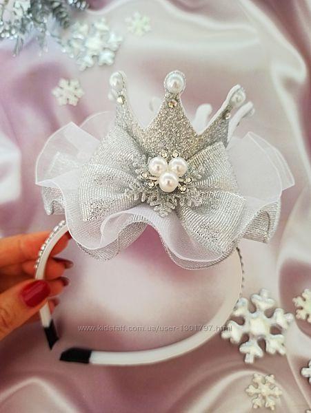 Серебряная новогодняя корона
