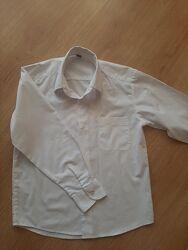 Рубашка белая. Рост 134-140.