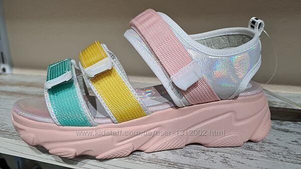 Яскраві якісні босоніжки TM W. NIKO р.32-35 для дівчинки на платформі