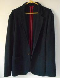 Летний мужской синий трикотажный пиджак блейзер zara man XL