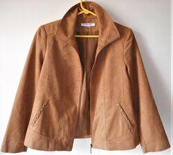 Allison daley женский жакет пиджак куртка замшевая бежевая р. l eur- 44 фот