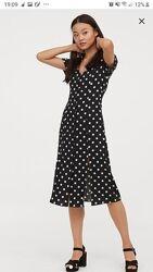 Прекрасное новое платье h&m в горохи