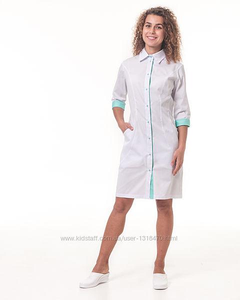 Медицинские халаты, классика, котон, качество -люкс.
