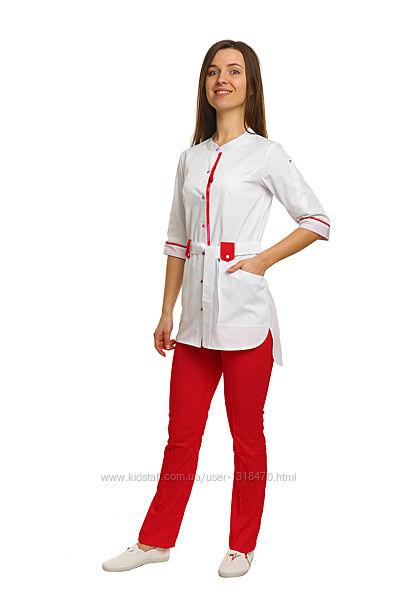 Медицинский костюм Дели, котон-люкс, комбинир. рукав