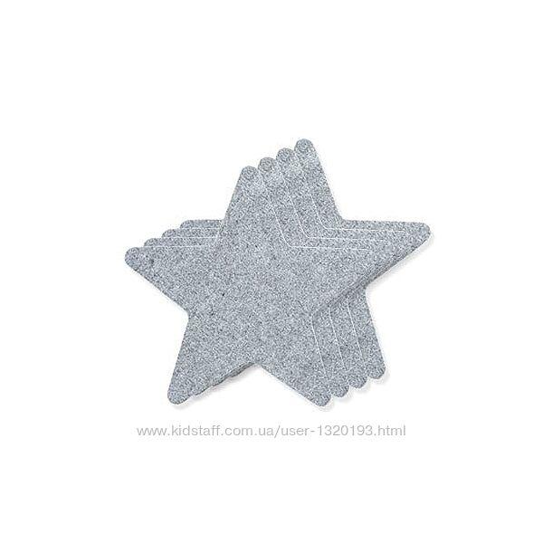 Cалфетки из войлока звезды 4 шт tukan