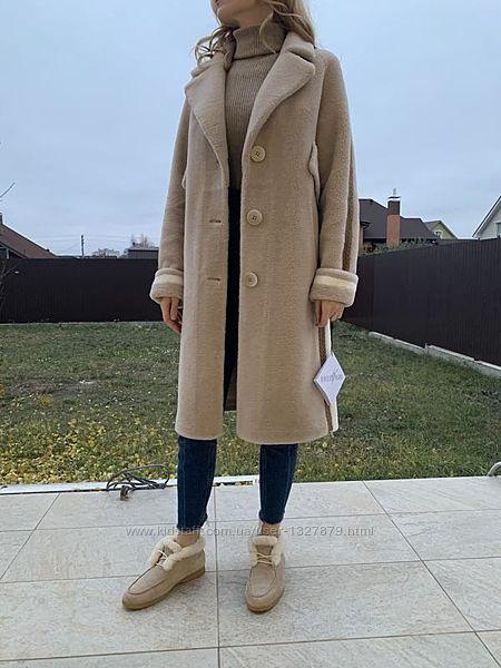 Зимнее шерстяное пальто-шубка Vinicio Pajaro /Италия/