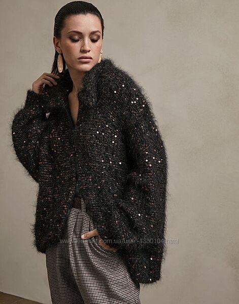 Модные тёплые свитера кардиганы
