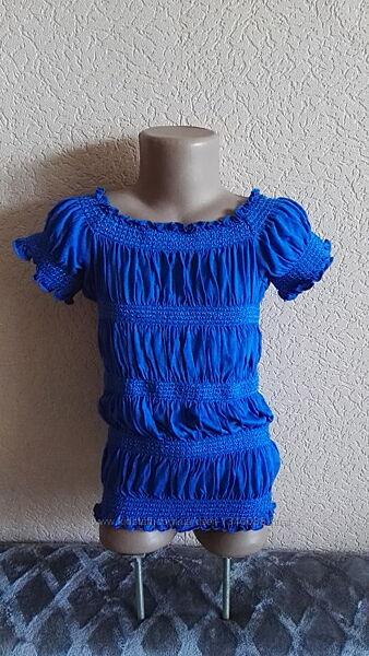 Блуза летняя на резинках для девочки 9-10лет, рост 140см от m&s