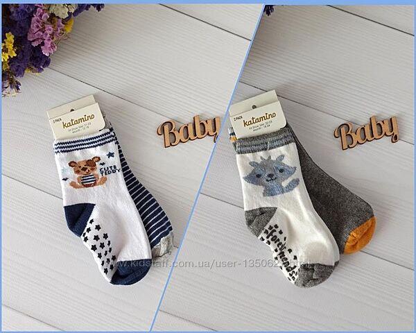 Комплекты демисезонных носочков 1 пара с тормозами1пара без, Турция