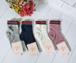 Демисезонные носки с люрексом для девочек, Турция