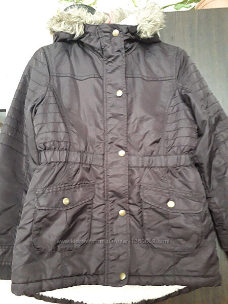 Утеплена куртка-парка для дівчинки