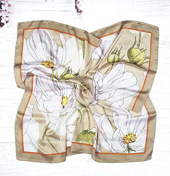 Платок шарф женский шелковый