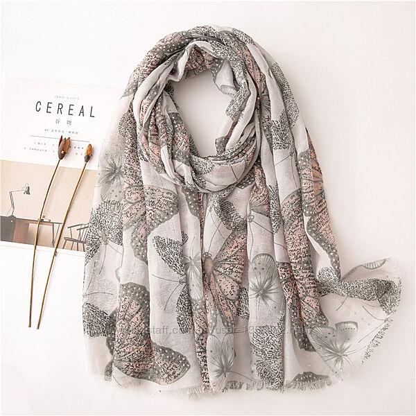Модный шарф женский льняной