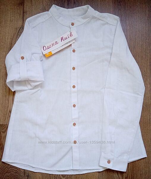 Рубашка лен 2 цвета рб150 рр.104-158 коллекция Dreamers ТМ Бемби