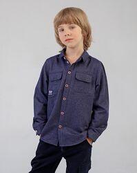 Рубашка теплая 2 цвета рр.104-146 рб146 тм Бемби