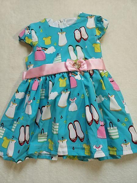 Яркое качественные платья на девочку р.80,86 новые