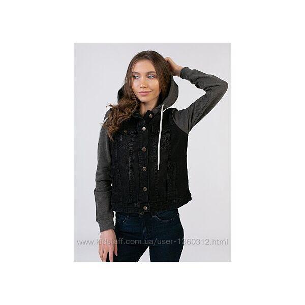 Esmara. джинсовая куртка с трикотажными утепленными рукавами. р. евро 38
