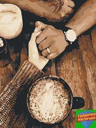 Картина по номерам Романтика Кофе День Святого Валентина