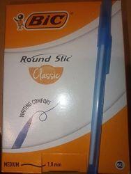 Шариковая ручка BIC Round Stic Classic, синяя, 60шт. , СУПЕРЦЕНА