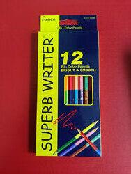 Карандаши цветные Marco Superb Writer двухсторонние 12 штук/24 цвета