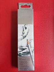 Набор графитных карандашей Marco RAFFINE разной твёрдости 12 штук