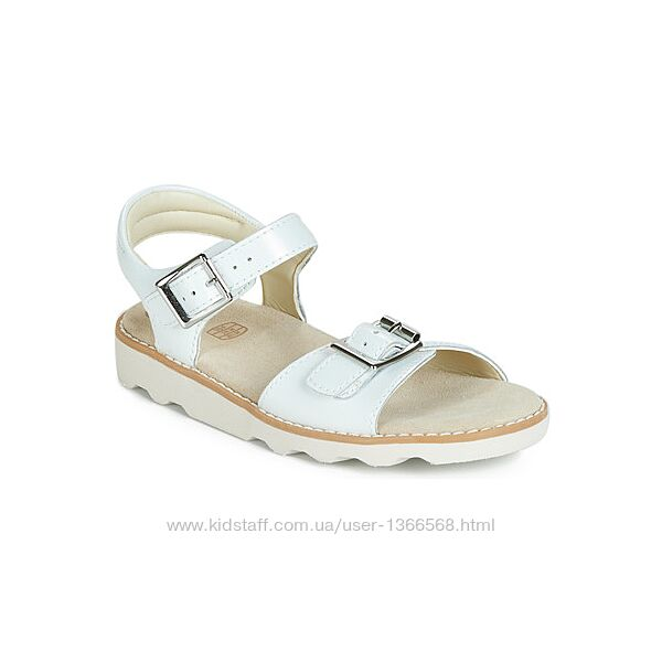 Шкіряні сандалі Clarks Crown Bloom K White