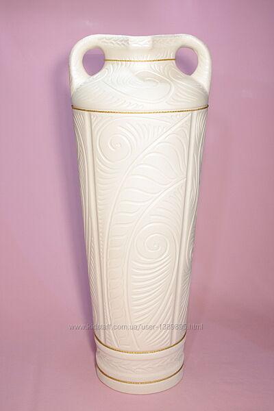 Ваза  напольная белая  Зевс