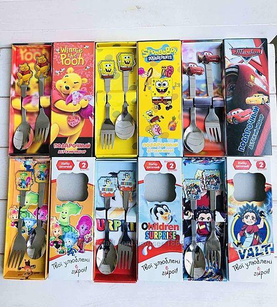Большой выбор детских столовых приборов с мультяшными героями