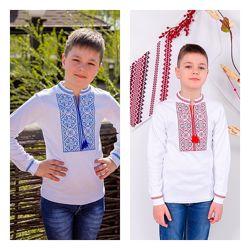 Вышиванки на мальчика рост 104-164. Длинный и короткий рукав