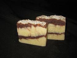эко мыло ручной работы Овсяное молочко и шоколад с нуля