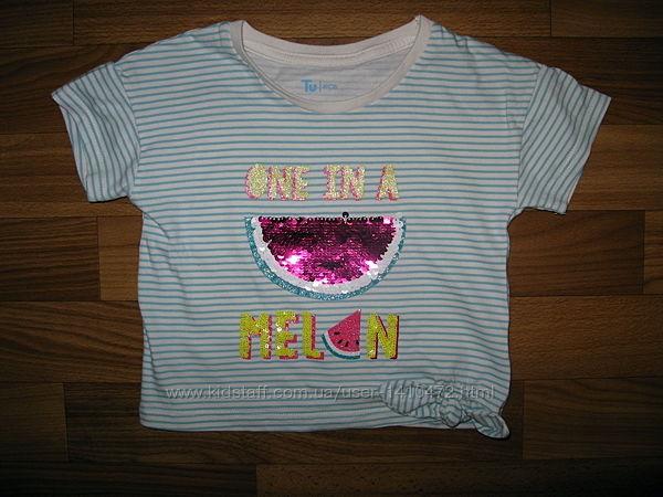 футболки и майки девочке на 3-9 лет