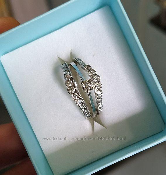Золотое кольцо-жакет с бриллиантами 0.70 карат