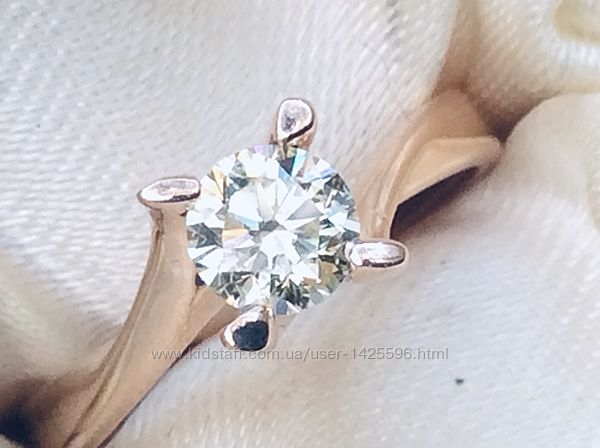 Кольцо с бриллиантом 0.52 карата