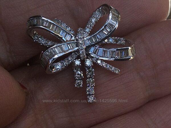 Платиновое кольцо с бриллиантами 1 карат