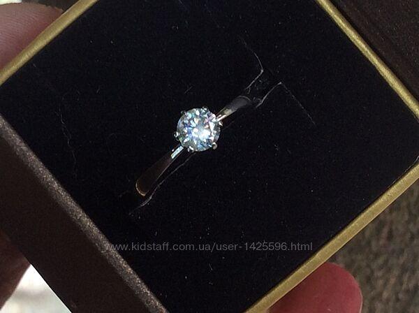 Кольцо с бриллиантом 0.42 карат