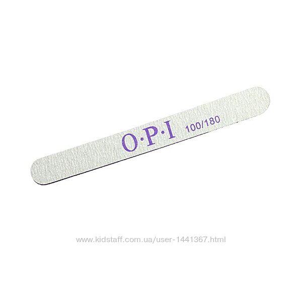 Пилка OPI двухсторонняя прямая с овальными краями100/180