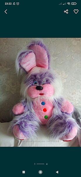 Большая мягкая игрушка заяц