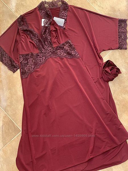 Вишуканий комплект халатика з сорочкою 50, 52 р
