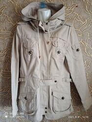 Отличная демисезонная удлиненная куртка/ парка vero moda осень / весна